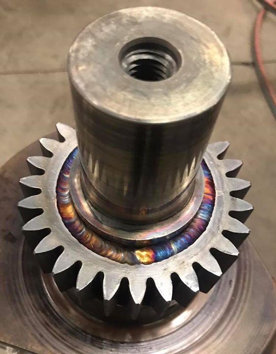 Welding gears