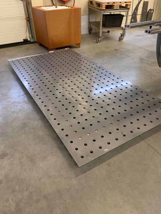 Laserplaat tbv lastafel 15mm