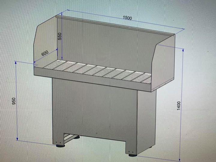 Rvs onderdelenreiniger van 3D naar